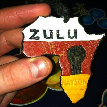 Director, Dick Fontaine's original Zulu Nation badge given to him by Afrika Bambatta in 1985